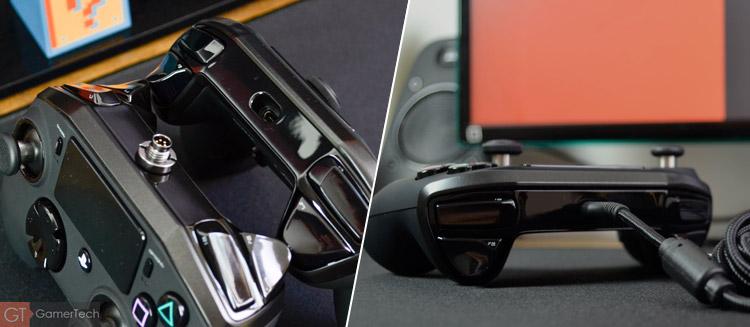 La manette se connecte via USB-C