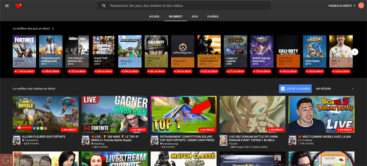 Présentation YouTube Gaming