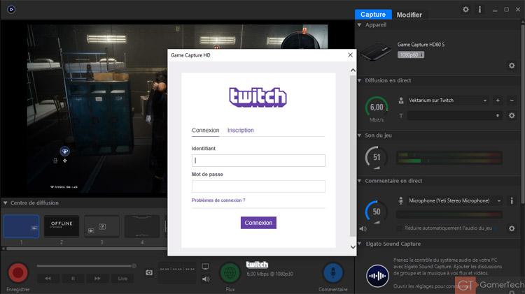 Streamer avec le logiciel Elgato