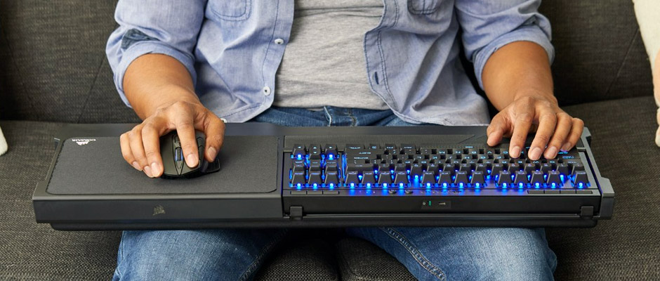 Lapboard mécanique Corsair K63 Wireless. Le Corsair K63 Wireless intègre  des interrupteurs Cherry MX Red ... 7db1bc74c646