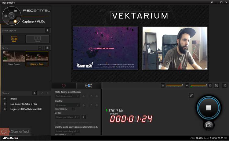 Logiciel AVerMedia pour Streaming Twitch