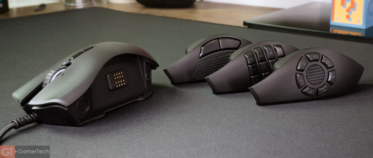 La souris gamer dispose de façades interchangeables