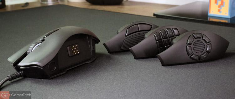 La souris gamer dispose de façades interchangeables