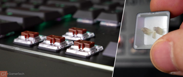 Le clavier utilise des interrupteurs mécaniques low-profile Brown