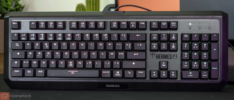 Le layout du clavier gamer de Gamdias