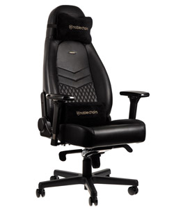 Chaise gamer avec vrai cuir - NobleChairs Icon
