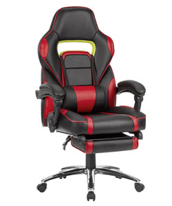 Fauteuil gaming avec repose-pied