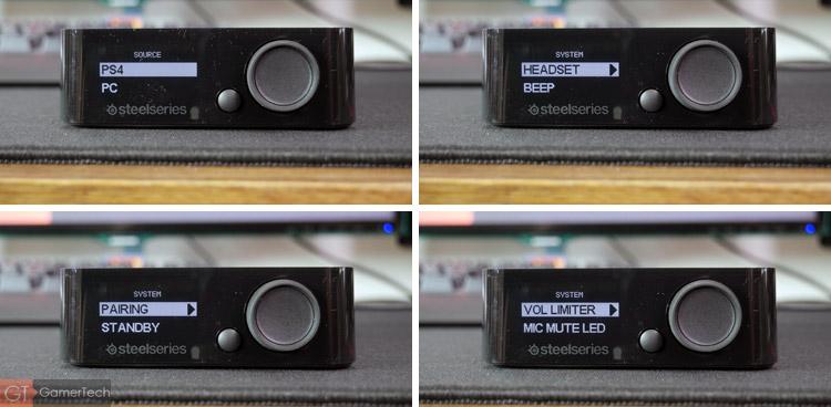 Le boitier permet d'ajuster les paramètres du casque sans fil