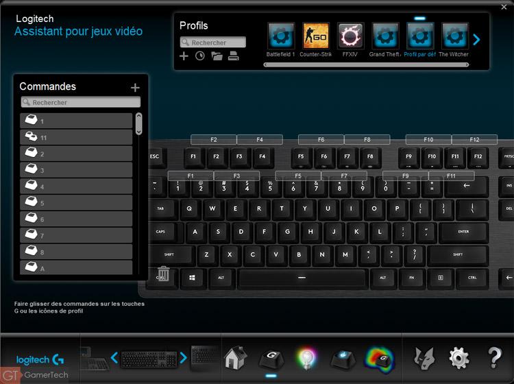 Logiciel clavier Logitech G513