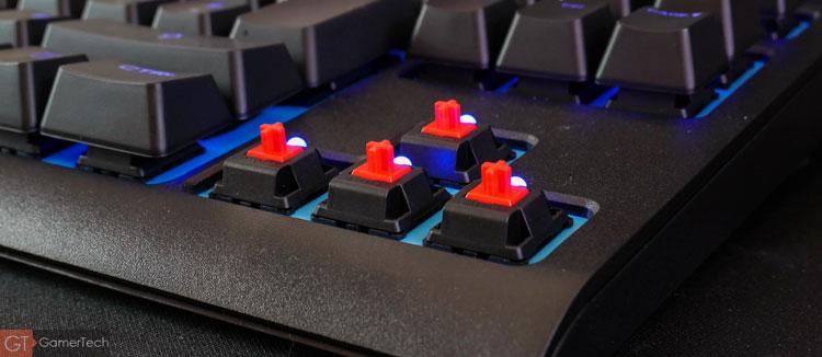 Clavier gamer avec switch Cherry MX RED