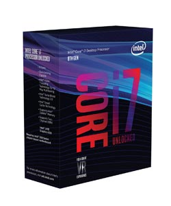 Intel Core i7-8700K - Meilleur processeur gamer 2018