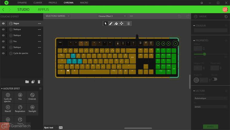 Razer Chroma Studio - Pour configurer le rétroéclairage du clavier