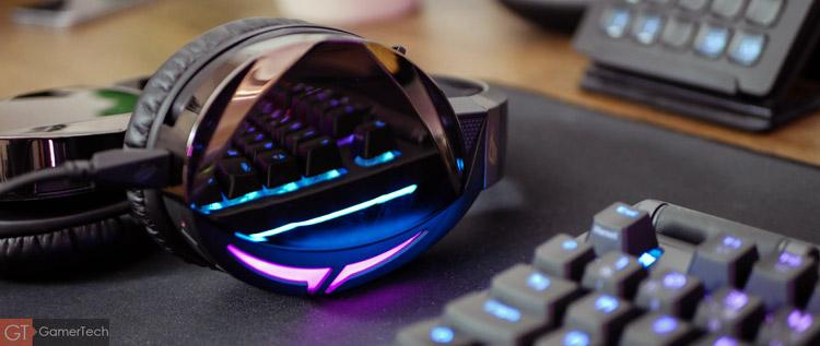 Casque gaming avec éclairage RGB