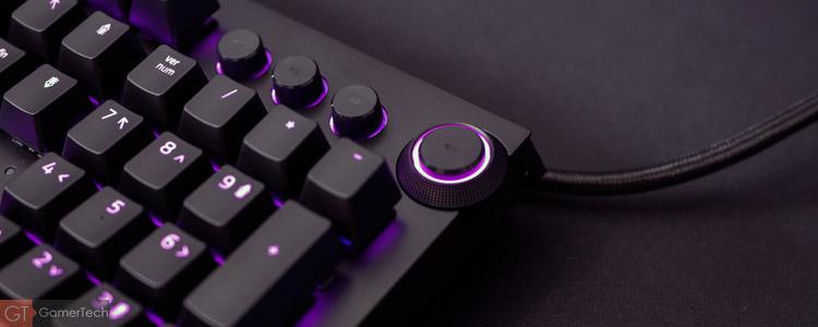 Clavier Razer avec molette pour le volume
