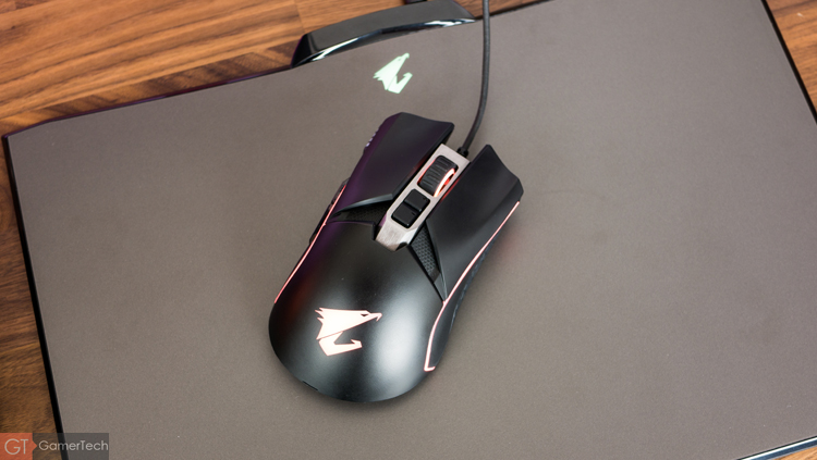Performances de la souris Aorus M5