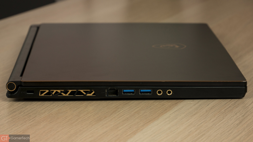 MSI GS65 : connectique USB type-C Thunderbolt