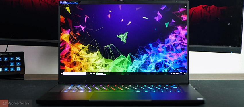 PC portable avec écran 144 Hz