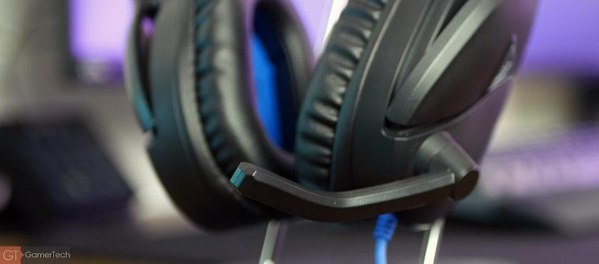 le microphone peut être rabattu et se couper automatiquement