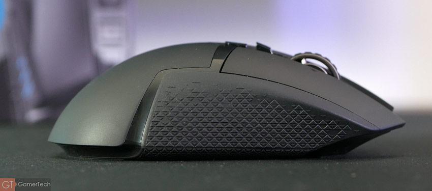 Souris gamer Logitech G502 avec zone de grip