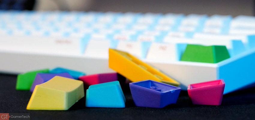 Keyscaps de couleur
