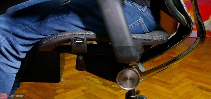 L'assise de la chaise peut être avancée ou reculée