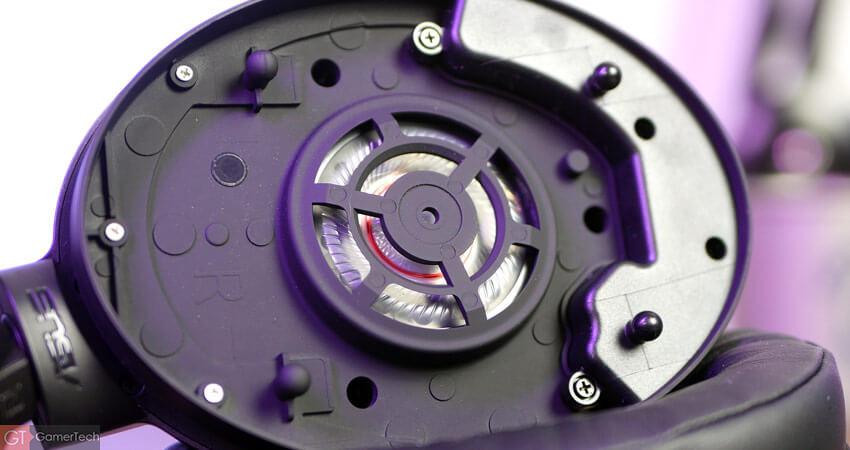 Zoom sur les transducteurs du casque