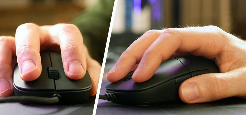 Ergonomie de la souris Endgame Gear XM1