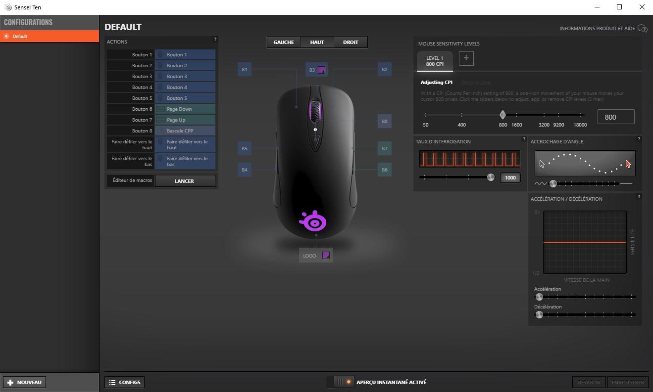 SteelSeries Engine 3 : Le logiciel pour les souris SteelSeries