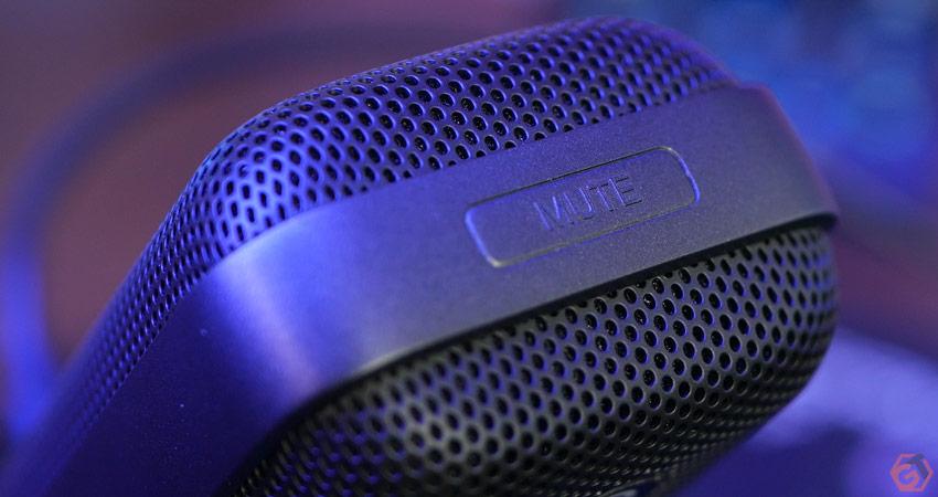 Zoom sur le bouton Mute du microphone
