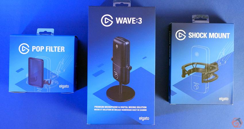 Unboxing du micro Elgato Wave 3 et de ses accessoires