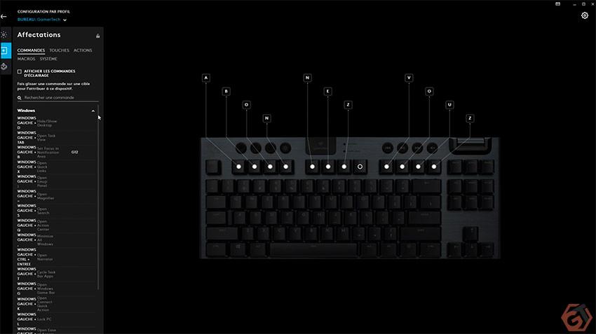 Ajustement des touches du clavier