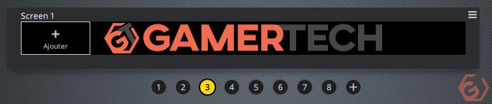 Un écran personnalisé avec un logo