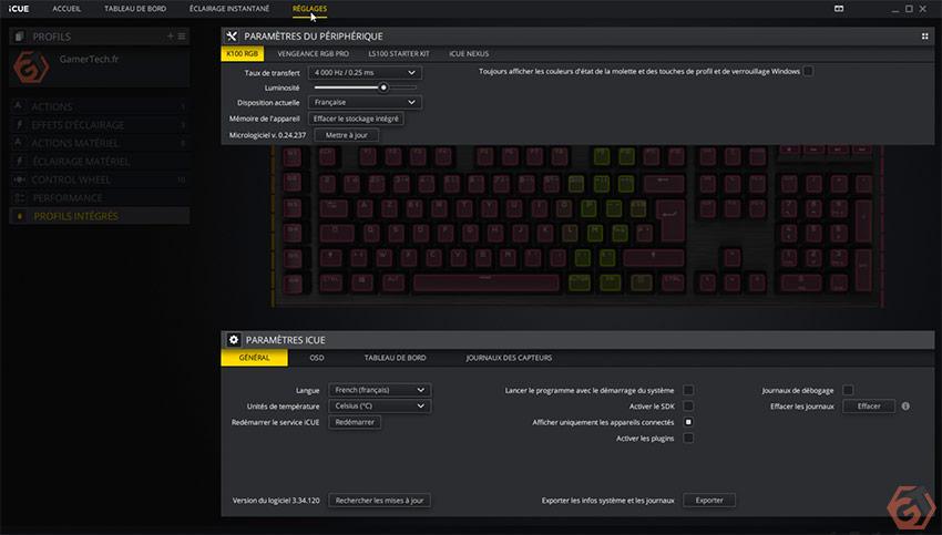 Le clavier dispose d'un taux de transfert de 4000 Hz