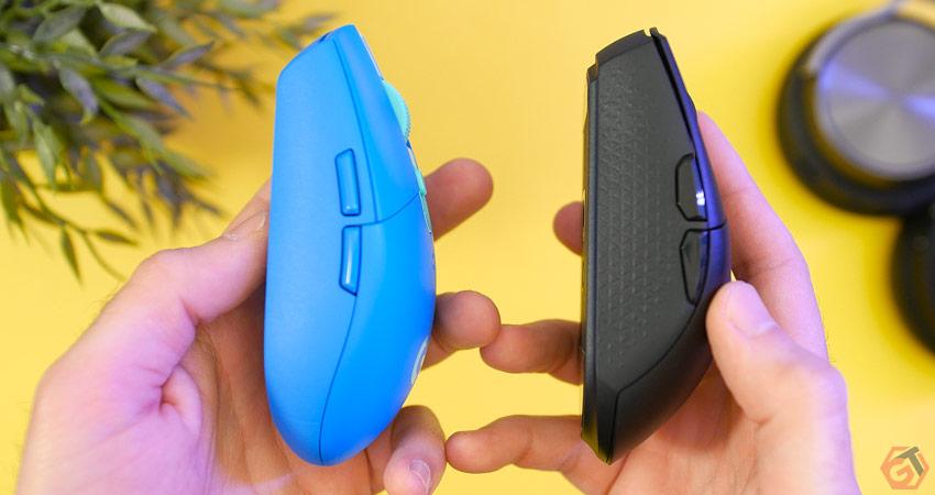 Logitech G305 Lightspeed et Katar Pro Wireless