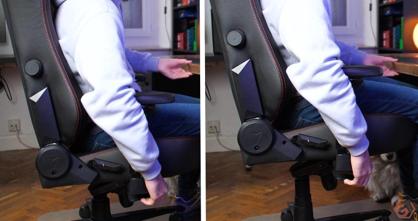 La hauteur de la chaise est facilement ajustable