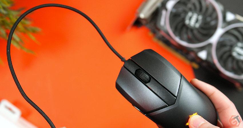 Le câble de la souris MSI n'est pas assez flexible