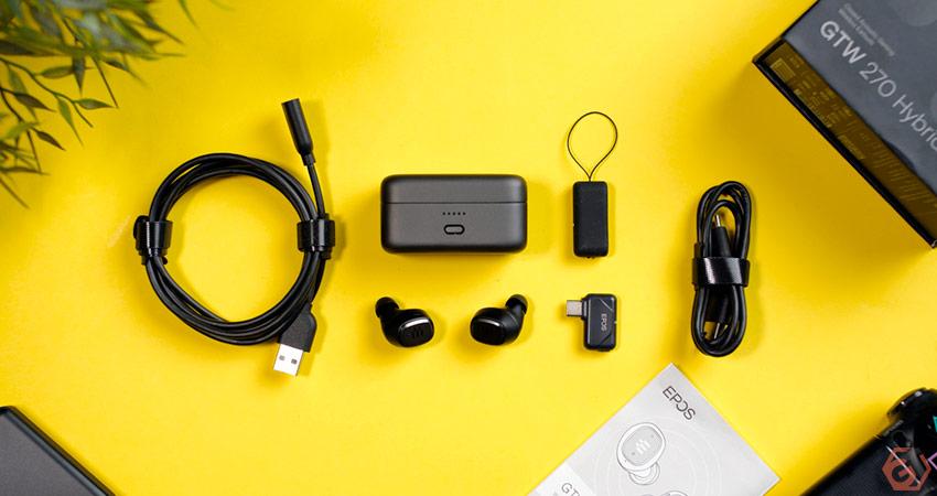 Unboxing des écouteurs EPOS GTW 270 Hybrid