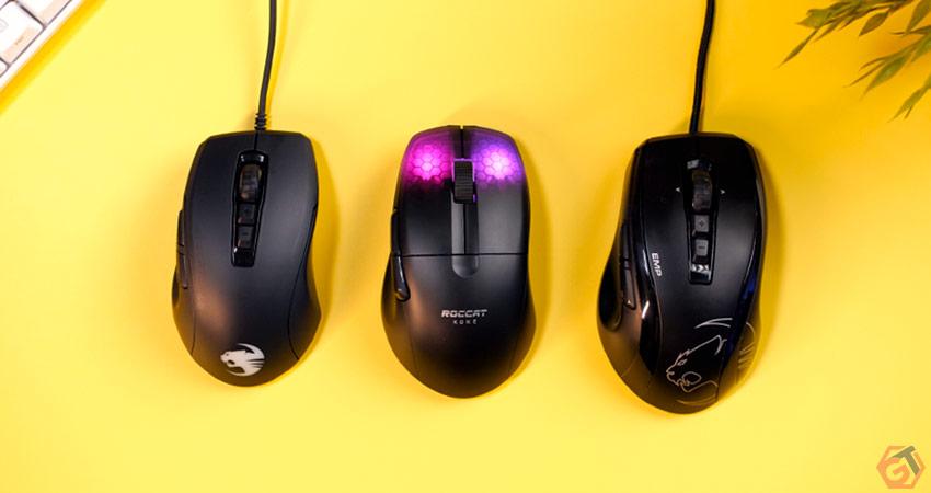 Evolution des souris gamer Roccat Kone