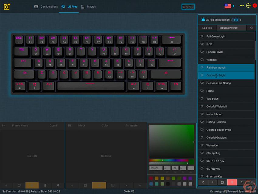 Le clavier custom est compatible RGB